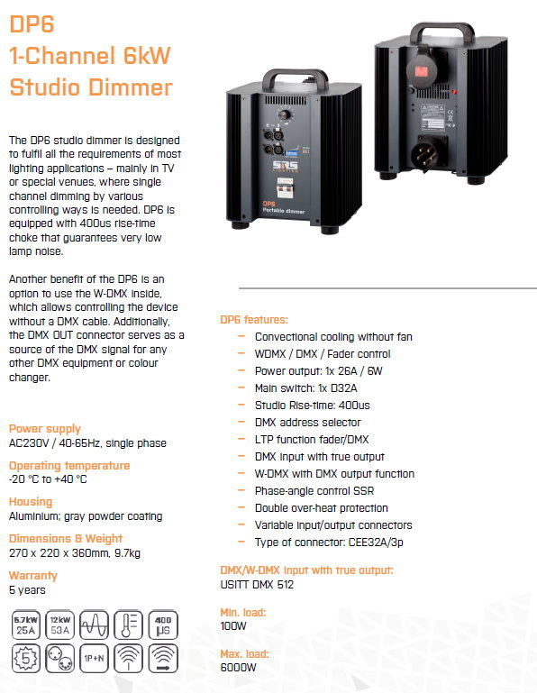 Portable Dimmer DP6