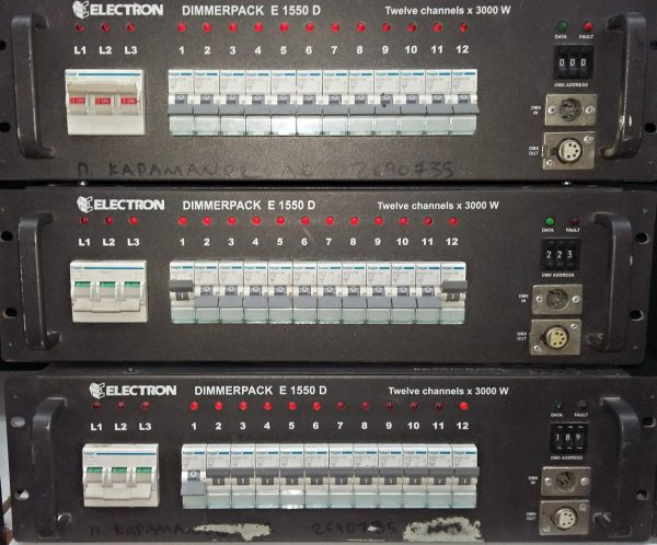 Electron Dimmer Pack E1550D-12Channels-3000W
